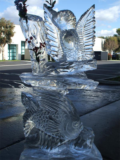 Tropical themed Ice Sculpture